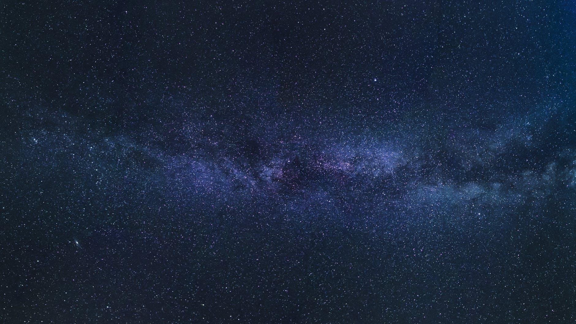 blue and purple cosmic sky